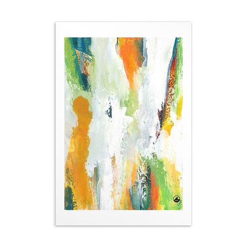Light of Life Mini Abstract Art Standard Postcard by SoBudd