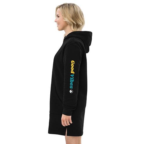 SoBudd Good Vibes eco-freindly Hoodie dress