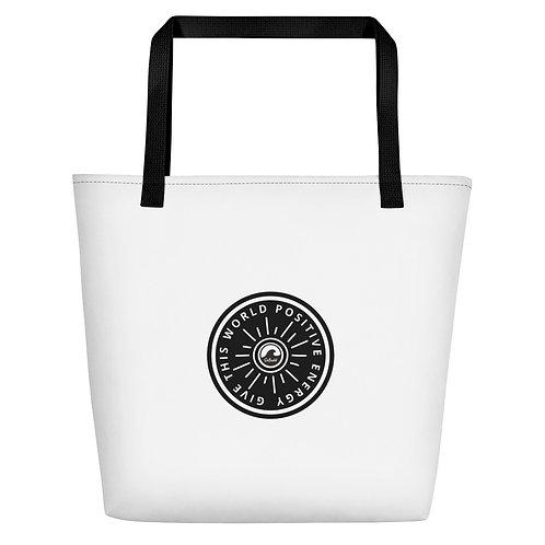 Give This World Positive Energy Beach Bag