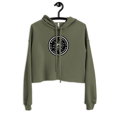 Give This World Positive Energy Crop Hoodie