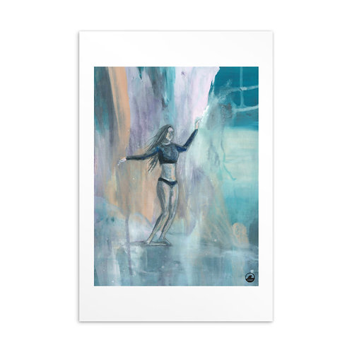 Mood Mini Art Surfer Girl Postcard