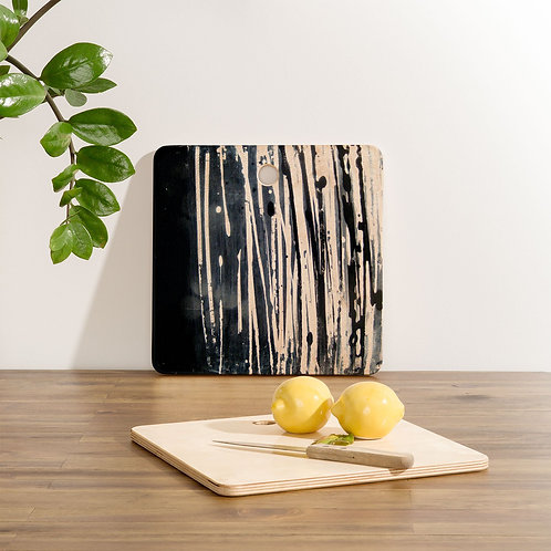 White Lines Cutting Board