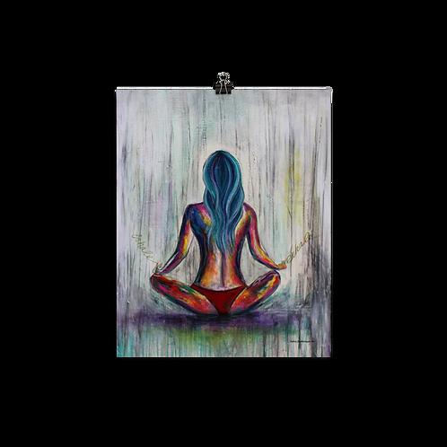 Just Breathe Art Poster
