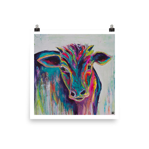 Texas Cow Museum-quality Poster