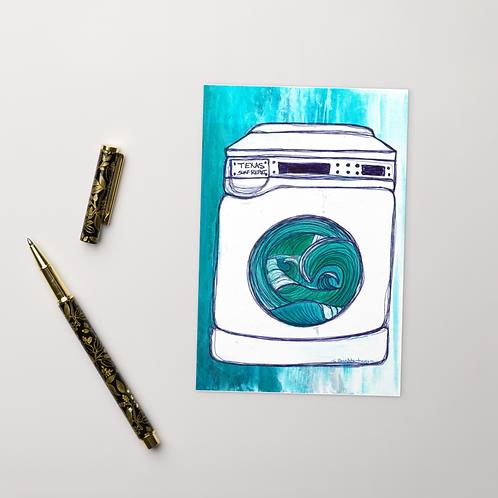 Texas Surf Report Washing Machine Standard Postcard