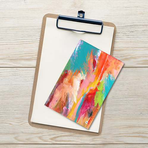 Color Tide Mini Abstract Art  Standard Postcard