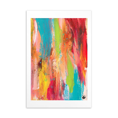 Sunshine Vibes Mini Abstract Art Standard Postcard