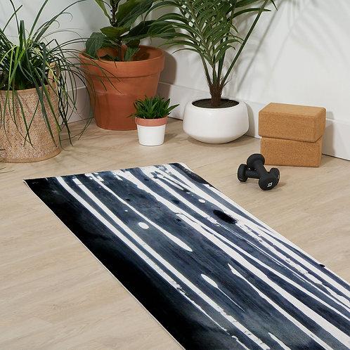 White Lines Yoga Mat