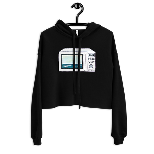 Texas Surf Report Microwaves Crop Hoodie