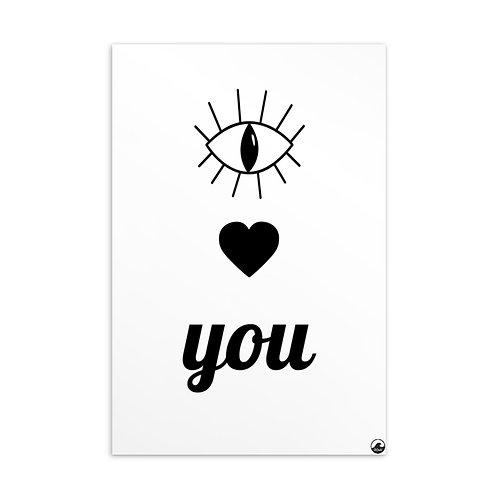 Eye Heart You Standard Postcard