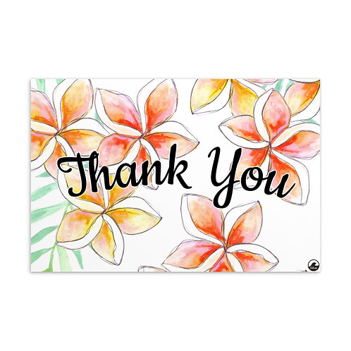 Plumeria Thank You Standard Postcard