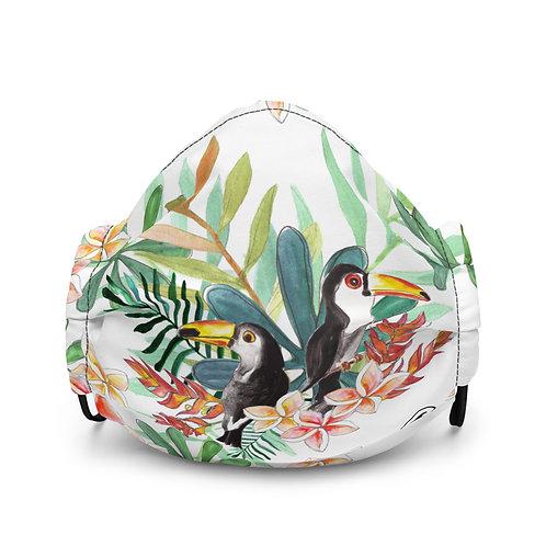 SoBudd Tropical Bird Premium face mask