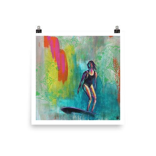 Surfside Surfer Girl Museum-quality Poster