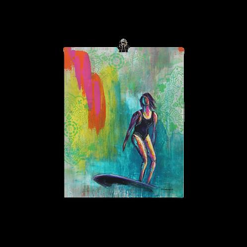 Surfside Surfer Girl Art Poster