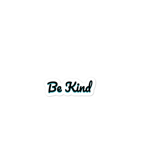 Be Kind Bubble-free stickers