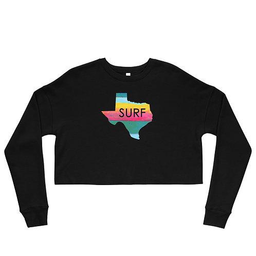 Surf Texas Crop Sweatshirt