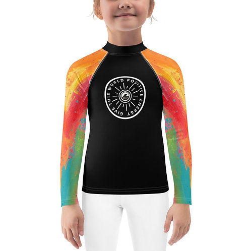 Give This World Positive Energy Kids Rash Guard by SoBudd