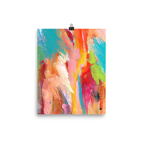 "Color Tide  8""x10""  Abstract Art Poster"