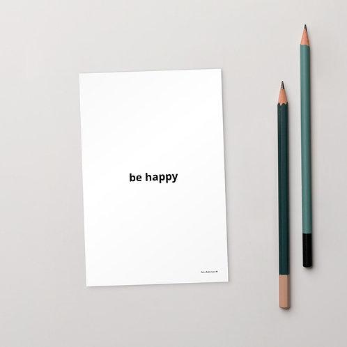 Be Happy Standard Postcard