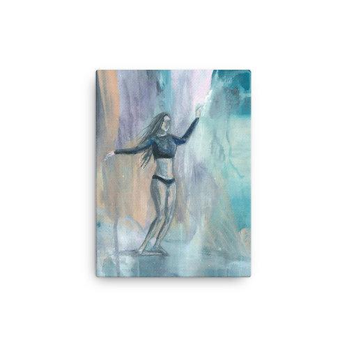 Mood Surfer Girl Canvas Print