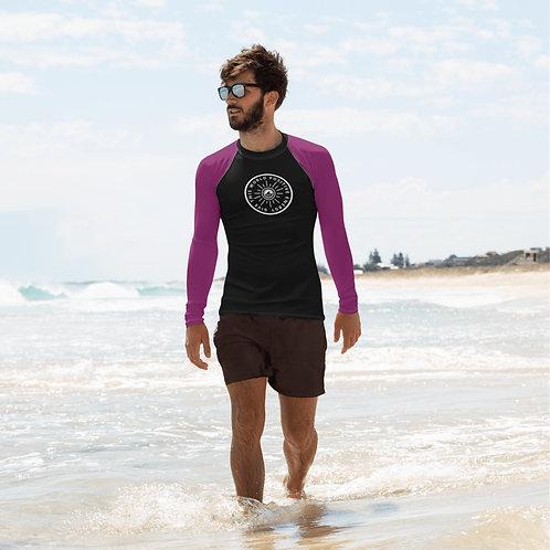 Give This World Positive Energy Purple Sleeve's Men's Rash Guard