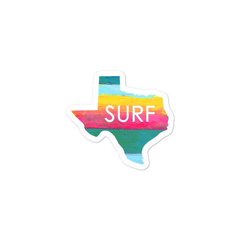 Texas Surf Bubble-free stickers
