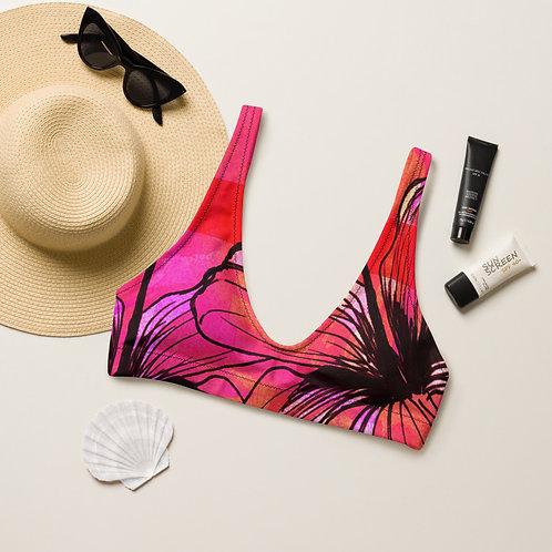 Summer Pink Recyled padded bikini top