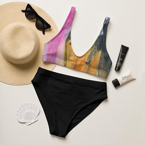 Overcome Recycled high-waisted bikini
