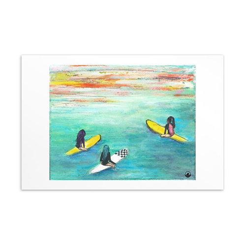 One More Wave Mini Art Postcard
