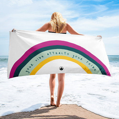 Your Vibe Attracts Your Tribe SoBudd Beach Towel