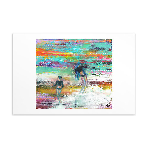Gypsies of  The Sea Surfer Girls Mini Art  Postcard