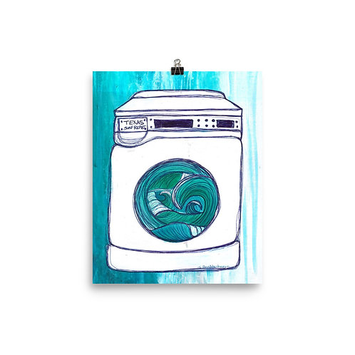 Texas Surf Report Washing Machine  Art Poster