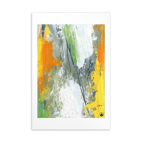 Temporary Disruptions Mini Abstract Art Standard Postcard by SoBudd