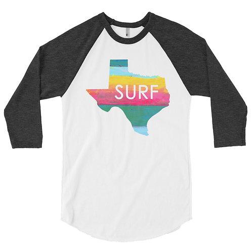 Surf Texas 3/4 sleeve raglan shirt
