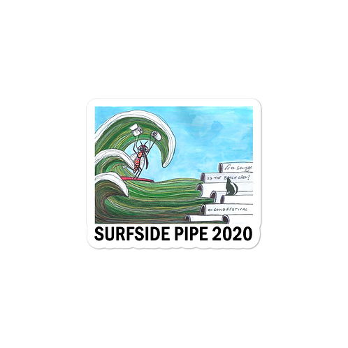 Surfside Pipe Bubble-free stickers