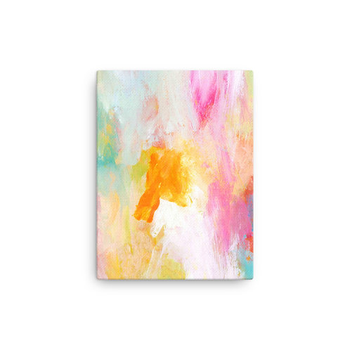 Chasing Sunshine Abstract Canvas Print
