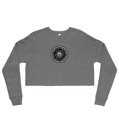 Give This World Positive Energy SoBudd Crop Sweatshirt
