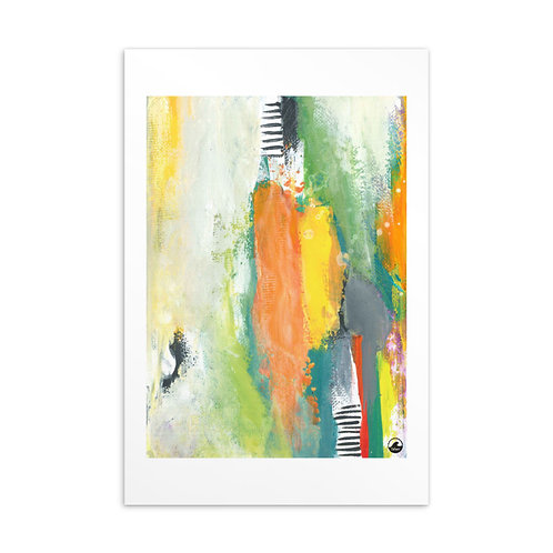 In The Moment Mini Abstract Art Standard Postcard by SoBudd
