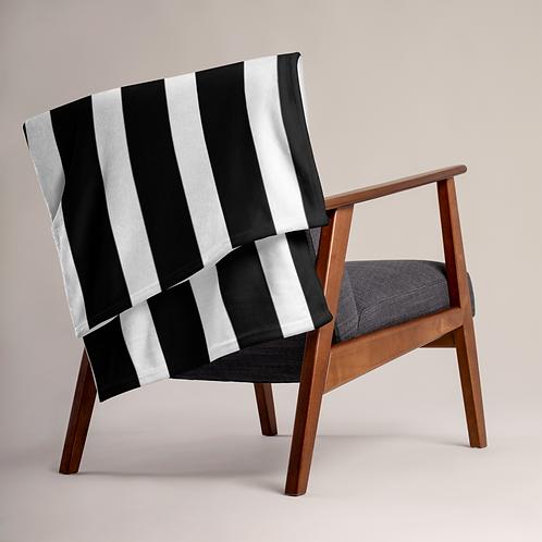 SoBudd Black and White Striped Throw Blanket