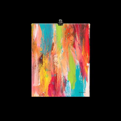 "Sunshine Vibes   8""x10""  Abstract Art Poster"