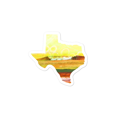 Texas Wave Bubble-free stickers