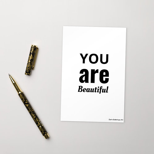 You Are Beautiful Standard Postcard