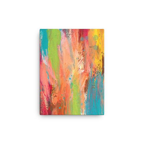 Sunshine Vibes Abstract Canvas Print