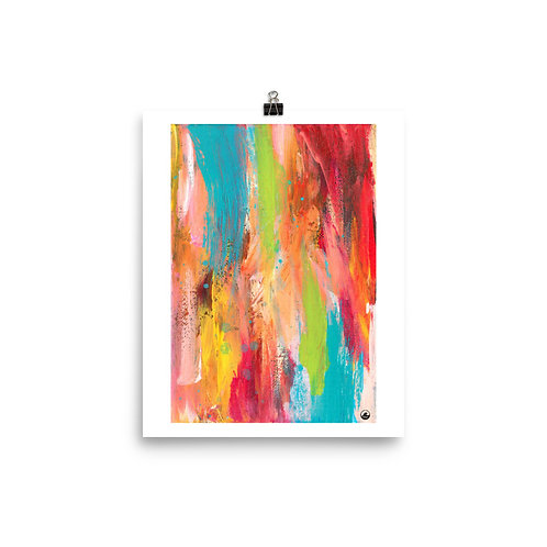 "Sunshine Vibes   8""x10""  Abstract Museum-quality Poster"