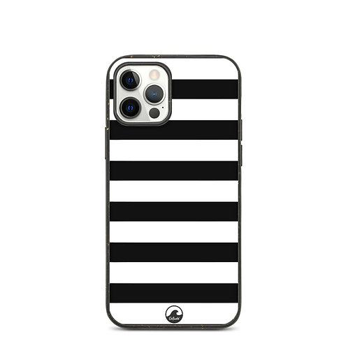 Black and White Stripe Biodegradable phone case by SoBudd