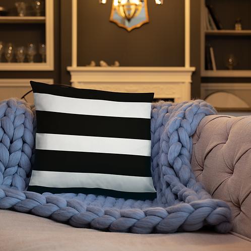 Black and White Stripe Throw Pillow