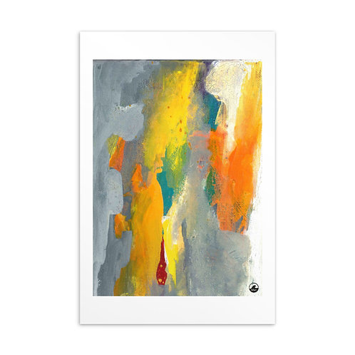 Life (4) Mini Abstract Art Standard Postcard