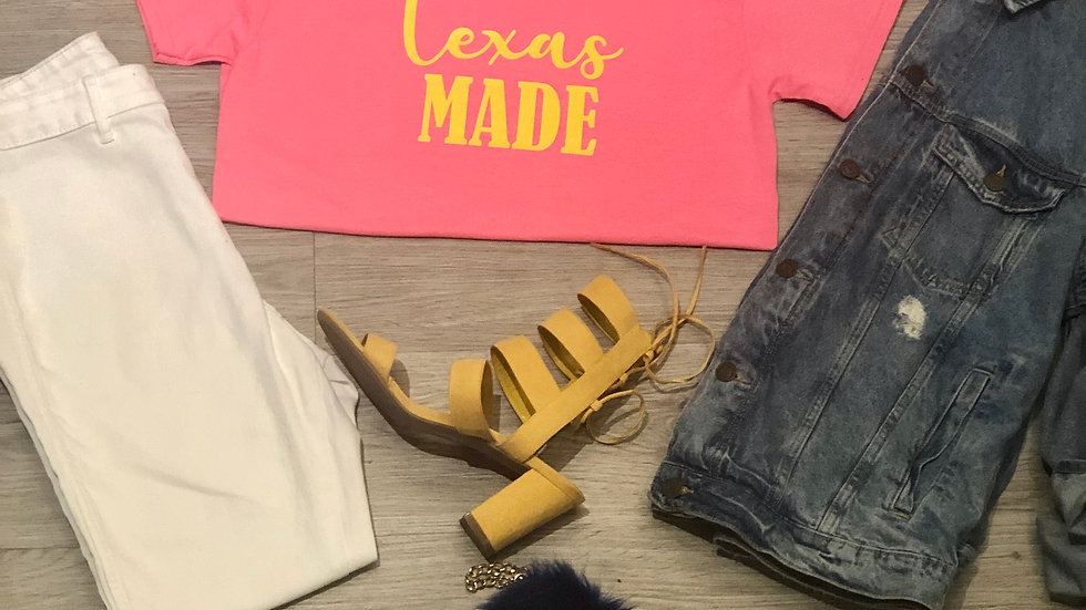 Texas Made-Neon Pink/Yellow