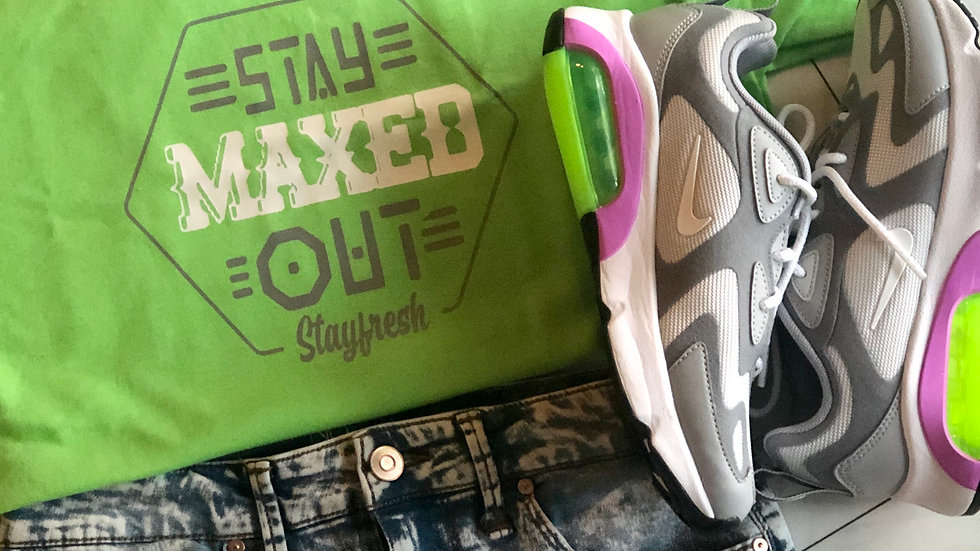 Maxed Out- Lime Green/Gray/White