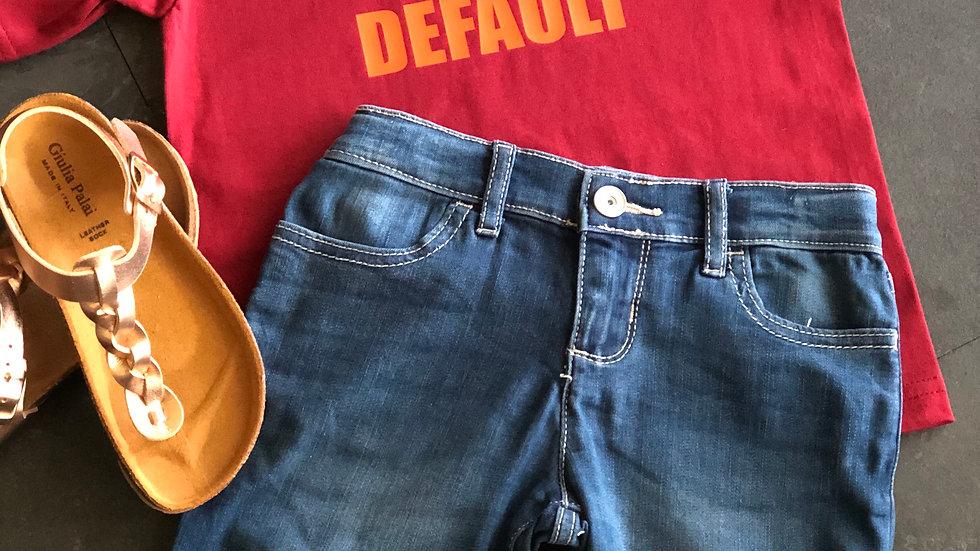 Cute By Default- Burgundy/Orange